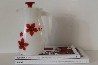 ★Pichet Arcopal motifs fleurs-70s★20€+fdp