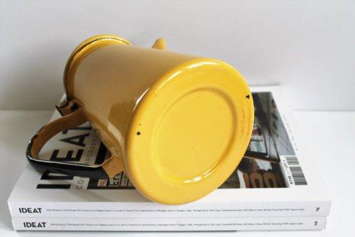 Vintage French Enamel TeaPot/Coffee Maker - 60s - Yellow