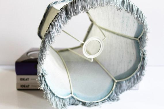 ★Abat-jour bleu pastel vintage - 70s★29.90€ + fdp