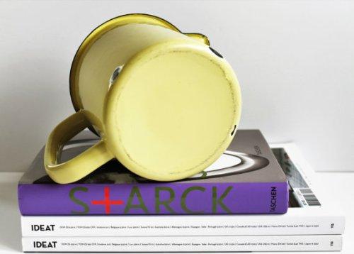 ★Pichet émaillé jaune vintage - 60s★22.65€ + fdp
