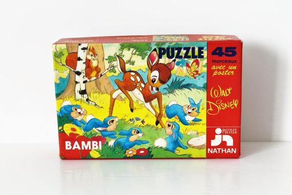 Puzzle BAMBI - WALT DISNEY - Fernand Nathan – 70s★13.95€ + fdp