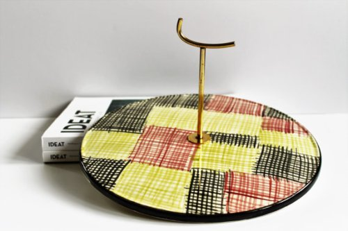 "French Vintage Cheese Tray - SARREGUEMINES - ""PROMOCOLOR"" Design"