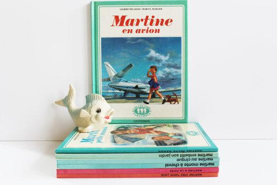 """COLLECTOR★Livre pour enfants """"Martine en avion"""" - 80s★13.85€ + fdp"""