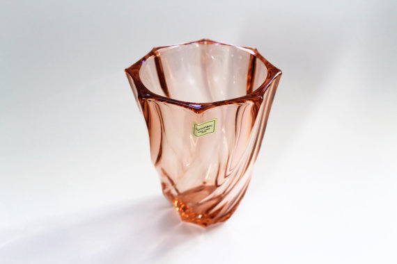★Vase en verre rose LUMINARC– 70s★Adopté…SOLD OUT!★