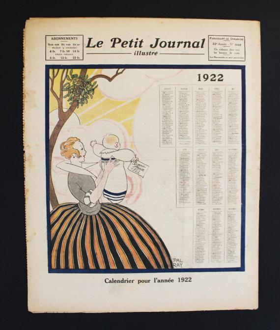 ★COLLECTOR★Le Petit Journal Illustré-1 Janvier 1922★27.95€ + fdp