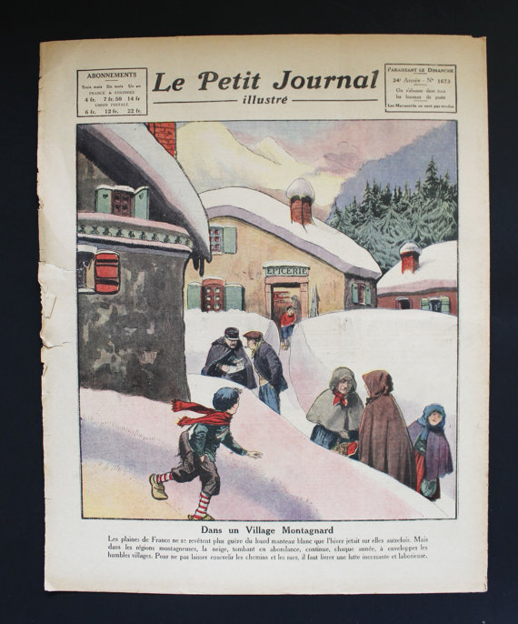 ★COLLECTOR★Le Petit Journal Illustré-14 Janvier 1923★27.95€ + fdp