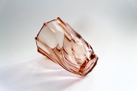 ★Vase en verre rose LUMINARC– 70s★Adopté…SOLD OUT!★