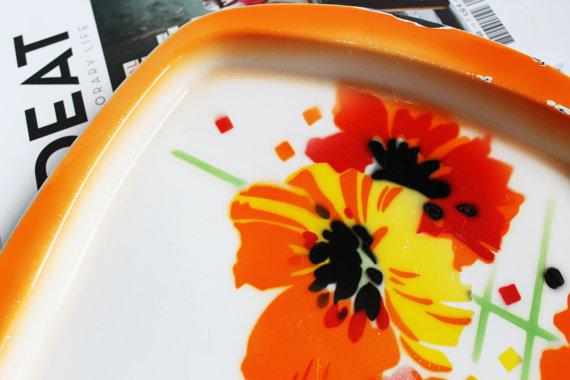 ★Plateau émaillée orange vintage - 50s★40.45€ + fdp