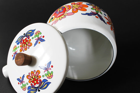 ★Caquelon à fondue émaillé vintage - 70s★43.95€ + fdp
