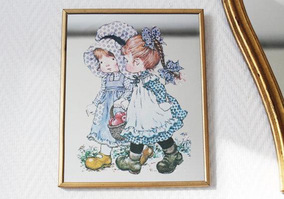 """Miroir enfant style """"Bonnie Bonnets"""" - 80s ★25.95€ + fdp"""