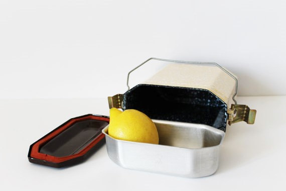 French Vintage Enamel Lunch Box - 50s