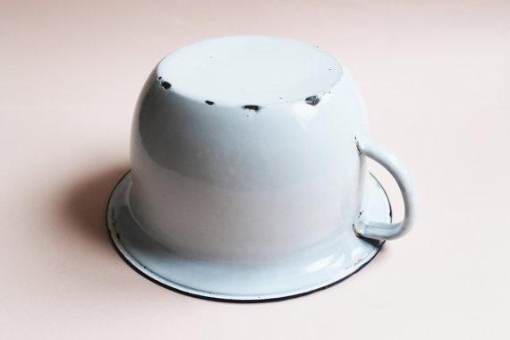 Vintage Enamel Chamber Pot-50s