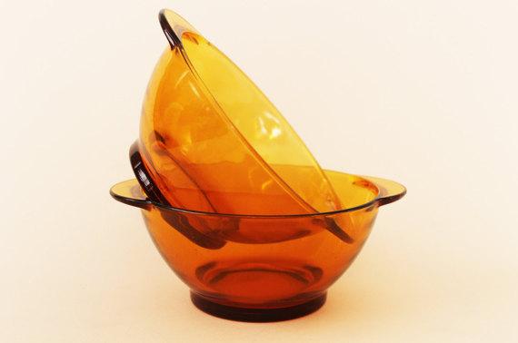 French Vintage DURALEX Café Au Lait Bowls-70s