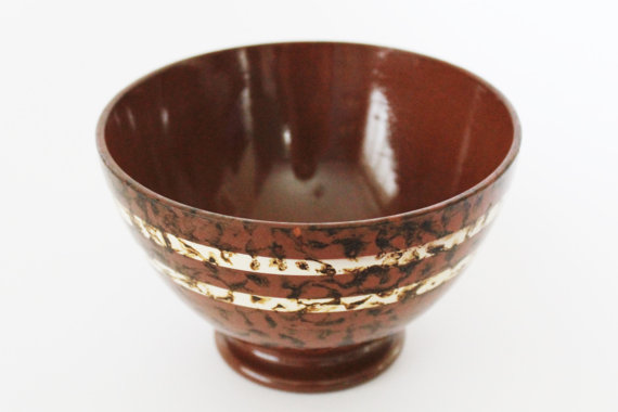 Sarreguemines Digoin Antique Café Au Lait Bowl-Mary-50s
