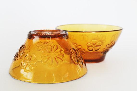 French Vintage VERECO Café Au Lait Bowls-70s